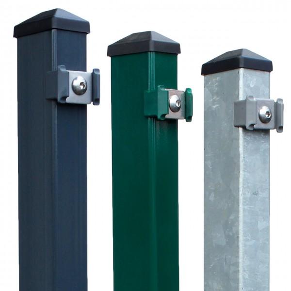 """Zaunpfosten Typ """"Multi""""   Höhe: 830mm   60x40mm inkl. Kunststoffkappe"""