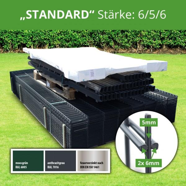 "Komplettzaunpaket ""Standard"" 6/5/6"